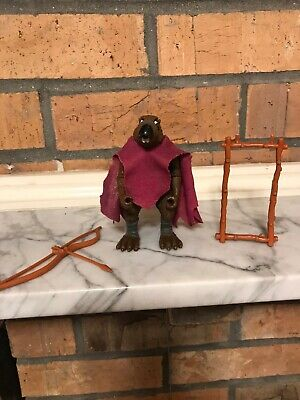 VTG 1988 TMNT SPLINTER HARD HEAD FIGURE 99/% COMPLETE W// ACCESSORIES CLEAN!