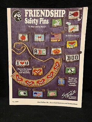 Friendship Safety Pins Instruction Leaflet Suzanne McNeill 1090 Holiday Fun