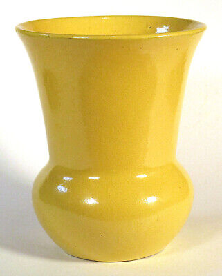 1910s 1920s Vintage ARTS & CRAFTS Flaring Trumpet Vase Yellow Mission Style