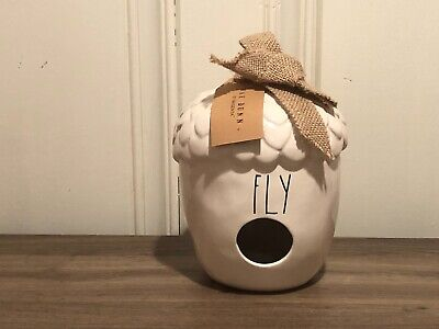 Rae Dunn Christmas Collection By Magenta Ceramic FLY Acorn Birdhouse VHTF
