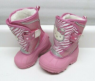 Girls Hello Kitty Winter Snow Boots Size 5/6 Youth Children Kids