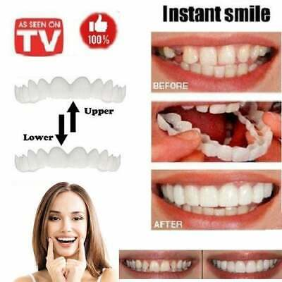 2Pcs Perfect Fit Flex Teeth Veneers Cosmetic Dentistry Instant Snap On fix Smile