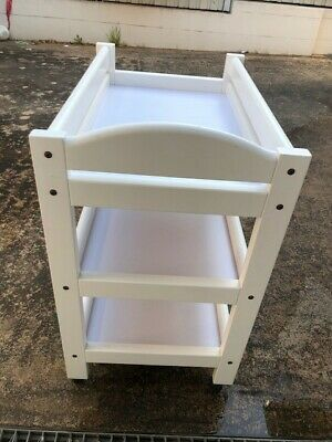 White Boori cot, trundle draw & change table