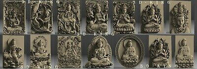13 Pcs 3D STL Model The God Guanyin for CNC 3D Printer Engraver Carving Aspire