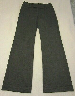 Mossimo Stretch Extensible Gray/Black Tweed Dress Pants Size 8 Inseam 32 (Fit 4)