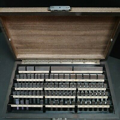 "STARRETT WEBBER GAGE BLOCK SET 4"" - .050"" 88pc MACHINIST METROLOGY"