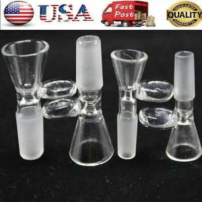 Slide Male Glass Bowl 14/18mm With Round Handle Clear-Slide Funnel Type Car