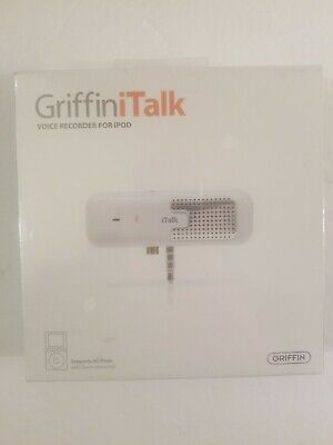 Griffin iTalk Voice Recorder for iPod 3 + 4G NEW Sealed - 4020-TALK