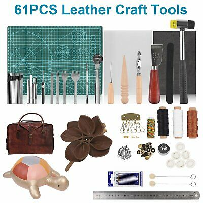 Leather Craft Punch Tools Stitching Sewing Carving Working DIY Notebook Key Bird