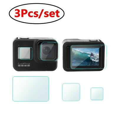 3Pcs/set Screen Protector For GoPro Hero 8 Black Accessories Protective Film Lot
