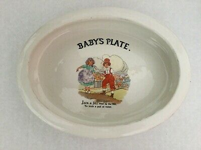 ANTIQUE BABY PLATE - EMPIRE WARE - Jack And Jill