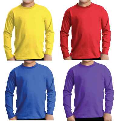 ADULT 4pce Wiggles Yellow Blue Red Purple Costume Long Sleeve Top Halloween