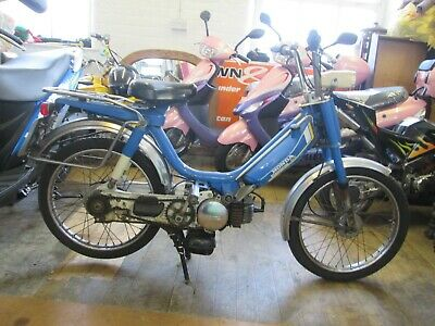 Honda Camino Dx Old School Moped Blue 1979 / 1980 7448 Mls Twist And Go 2 Stroke