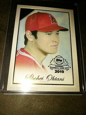 2019 Topps Gallery National Baseball Card Day Shohei Ohtani Gp-So Sp Retail Only