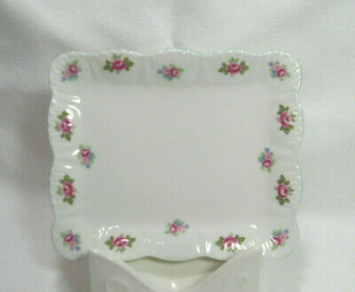 Shelley England Fine Bone China ROSEBUD DAINTY SHAPE Butter Dish NO Lid VGC