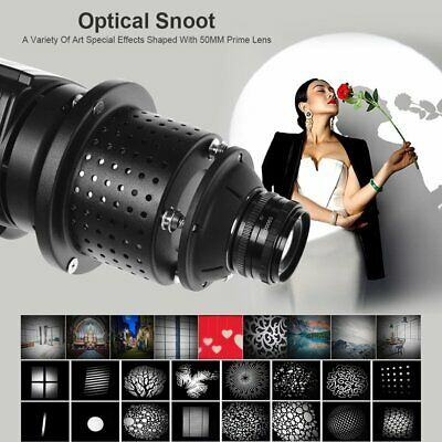 Bowens Mount Optical Conical Snoot Focalize Condenser With Lens For Flash Light