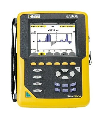Chauvin Arnoux CA 8336 Power Analyser. 3 Phase c/w Clamps & Software