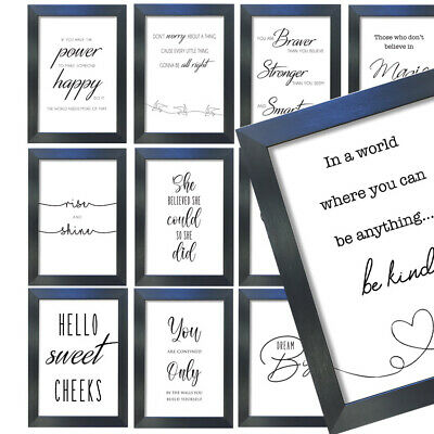 Motivational Inspirational Prints Funny Quote Posters A3-A4 Frame Wall Art Decor
