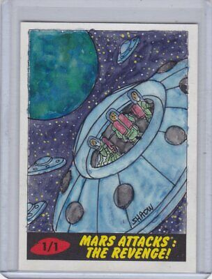 2017 Topps Mars Attacks The Revenge Shaow Siong Sketch card 1/1