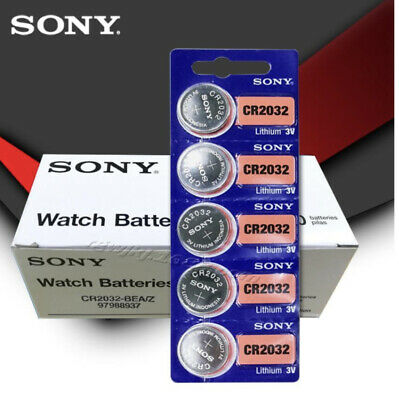 Sony CR2032 3V Original Button Coin Cell Lithium Battery x 5 batteries in lot!
