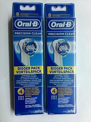 Oral-B Precision Clean, Lot 2x4 / 8 Brossettes ( Neuf sous blister )
