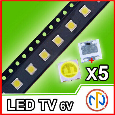 5X Led Retroilluminazione Tv 2W 6V Lg 3535 Alta Qualita'
