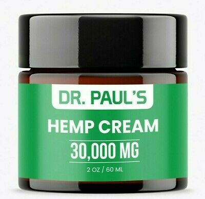 Hemp Pain Relief Cream - Joint ,Muscle, Anti Cellulite Organic Hemp Oil 30,000mg