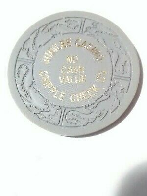 Jubilee Casino Cripple Creek Colorado No Cash Value Chip Great For Collection!