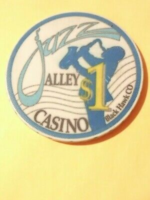 Jazz Alley Casino Black Hawk, Colorado $1.00 Chip Great For Any Collection!
