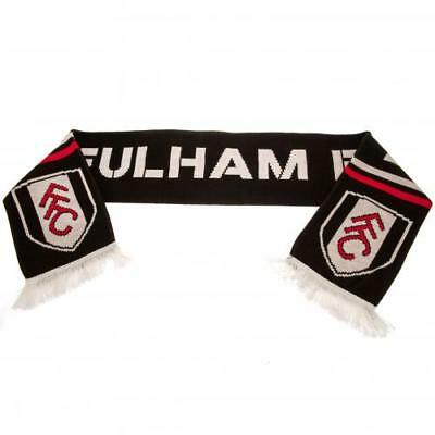 Fulham FC Official Crested Jacquard Knit Scarf Present Gift
