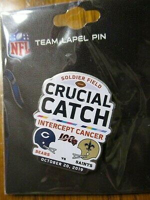 New Orleans Saints VS Chicago Bears Game Day Pin October 20, 2019 Soldier Field