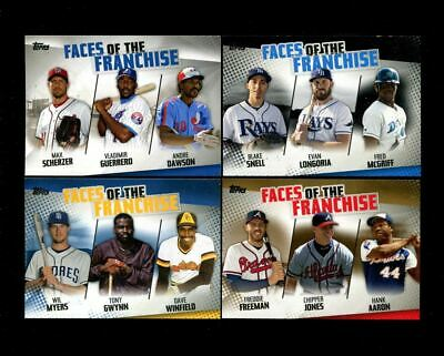 2019 Topps Baseball Series 2 Faces Of The Franchise U-Pick Complete Your Set