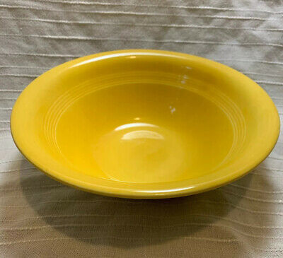 """HARLEQUIN YELLOW (older) by HOMER LAUGHLIN Round Vegetable Bowl Nappy 8 3/4"""""""