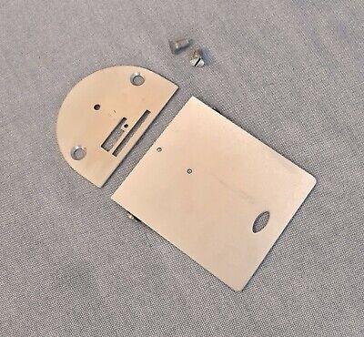 Singer Sewing Machine 15-91 Slide Bobbin Cover & Needle Throat Plates Screws