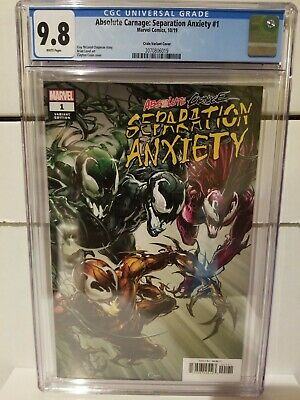 Absolute Carnage Separation Anxiety #1 Cgc 9.8 Crain Variant 1:50 Marvel Comics