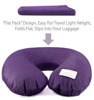 Inflatable Neck Pillow with Soft Plush Cover