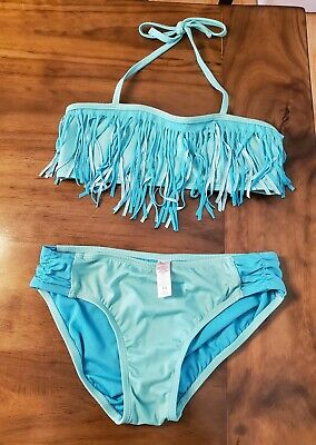 NWT JUSTICE Girls 8 10 12 Medallion Tiered Tankini Swimsuit