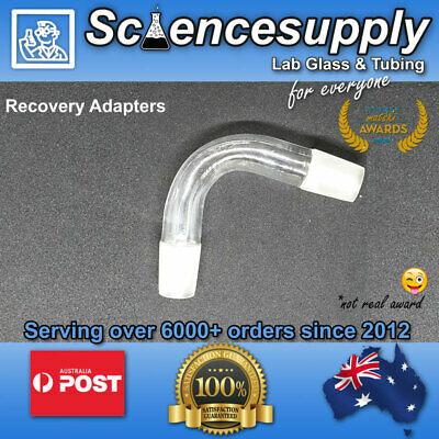 recovery adapter borosilicate bend elbow 75 degree science 14/23 24/29