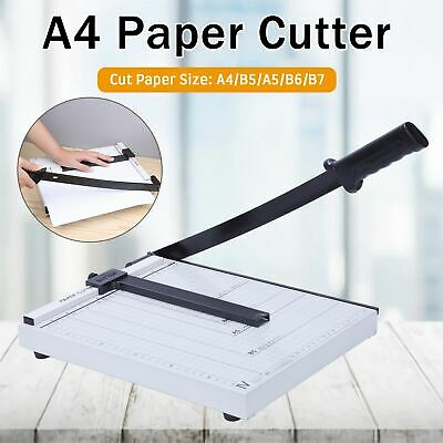 Heavy Duty Professional A4 Paper Guillotine Cutter Trimmer Machine Home Office A