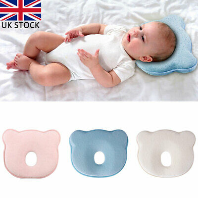 Soft Baby Cot Pillow Prevent Flat Head Memory Foam Cushion Sleeping Support UK