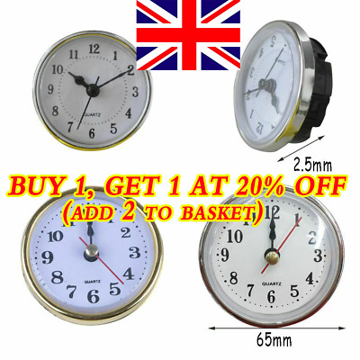 Replacement Clock Quartz Mechanism Movement Insert DIY Repair Parts Gold Trim HB