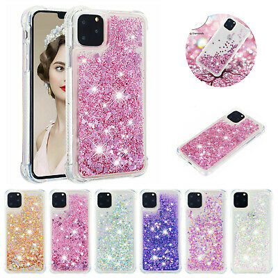 Liquid Glitter Shockproof Silicone Case Phone Cover For iPhone 11 Pro 6s 7 8 Xs