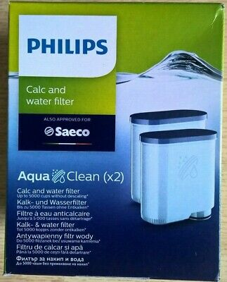Philips Saeco Aqua Clean Calc and Water Filter - 2 Pack