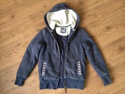 Girls Fatface Warm Hooded Jacket Top Size Age 10-11 Years Padded & Fur Lined