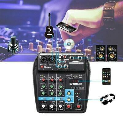 Professional Mixing Console USB Mini 4 Channel Stage Performance Audio Mixer