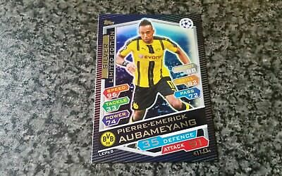 Match Attax Ucl 2016/17 Pierre-Emerick Aubameyang⭐Silver⭐Limited Edition Mint