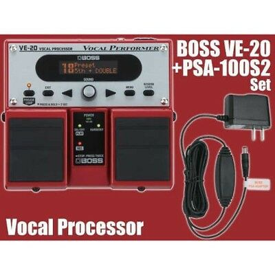 BOSS VE-20 Vocal Multi Effects Pedal + Genuine AC adapter Fast Ship Japan EMS