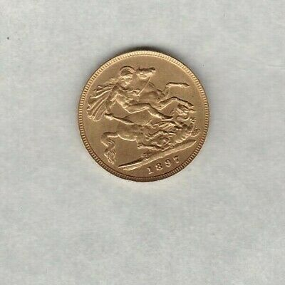 1897 Victoria Gold Half Sovereign In Good Very Fine Or Better Condition