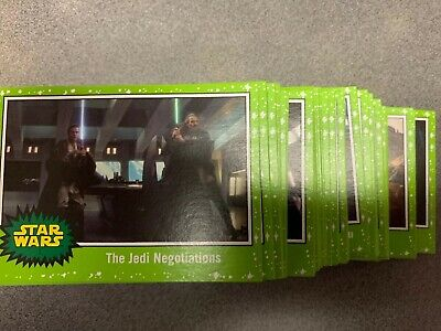 2019 Topps Star Wars Journey to Rise of Skywalker Complete Green Starfield Set