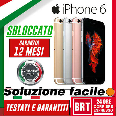 Smartphone Apple Iphone 6 16Gb/64Gb/128Gb Sbloccato Originale! 12 Mesi Garanzia!